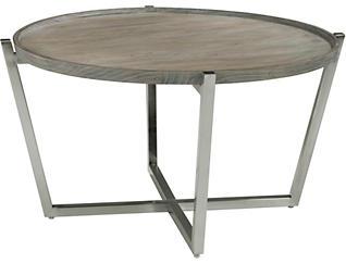 Platform Round Coffee Table, Pine, , large