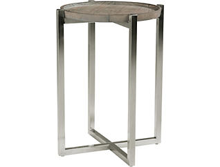 Platform Chairside Table, Pine, , large