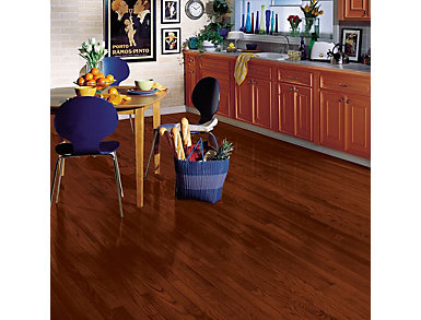 Yorkshire Strip Oak  Cherry Spice 3/4 X 2.25 in. Solid                          Hardwood $4.78 / sq. ft (20 sq. ft / case), , large