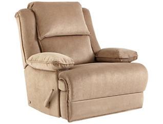 Art Van Signature II Massaging Recliner, Taupe, , large