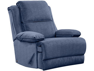 Art Van Signature II Massaging Recliner, Blue, , large