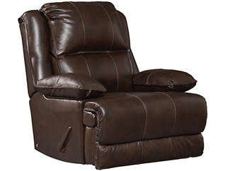 Art Van Signature II Leather Rocker Recliner, Brown, , large
