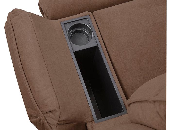 Art Van Signature II Power Massaging Recliner, Brown, , large