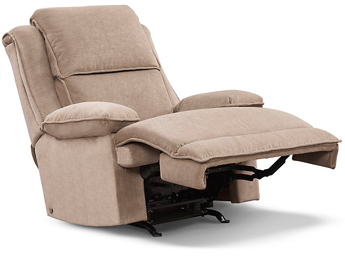 Art Van Signature II Power Massaging Recliner, Taupe, , large