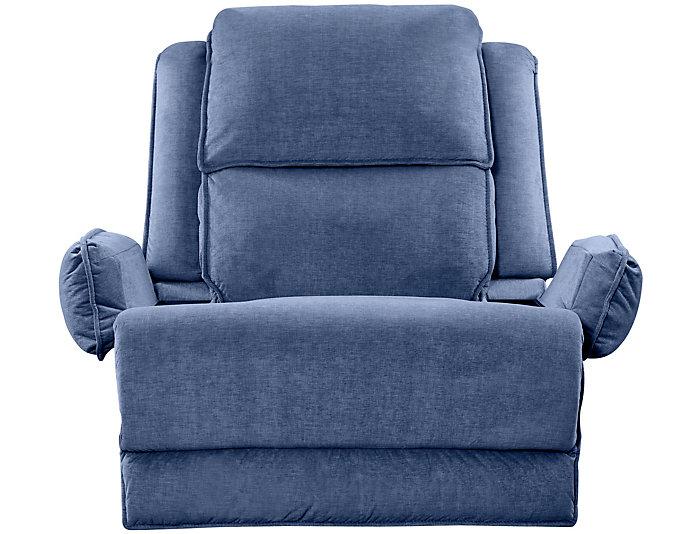 Art Van Signature II Power Massaging Recliner, Blue, , large
