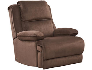 Art Van Signature II Dual Power Massage Recliner, Brown, , large