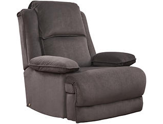 Art Van Dual Power Massage Recliner, Grey, , large