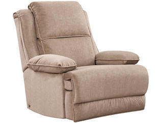 Art Van Signature II Dual Power Massage Recliner, Taupe, , large