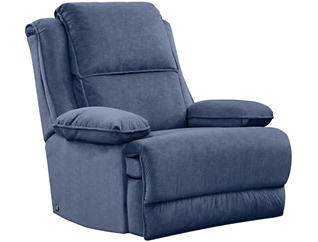 Art Van Dual Power Massage Recliner, Blue, , large