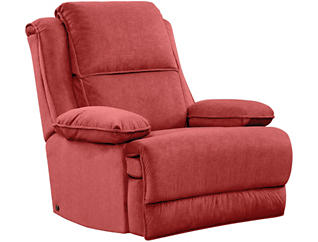 Art Van Dual Power Massage Recliner, Red, , large