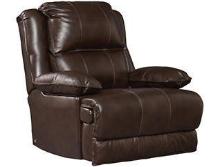 Art Van Signature II Dual Power Leather Rocker Recliner, Brown, , large