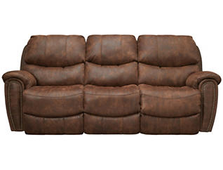 Franklin Richmond Reclining Sofa, Brown, , large