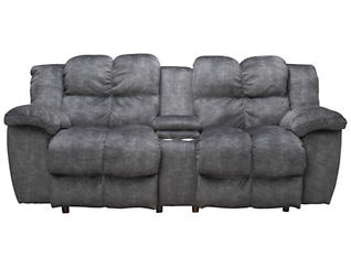 Franklin Cloud Power Reclining Loveseat, Grey, , large
