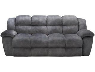 Franklin Cloud Reclining Sofa, Grey, , large
