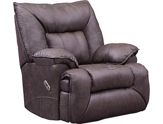 Wondrous Joshua Leather Rocker Recliner Evergreenethics Interior Chair Design Evergreenethicsorg