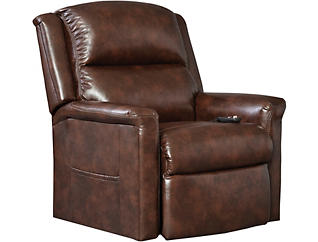Province Power Lift Recliner Chair, Brown, , large