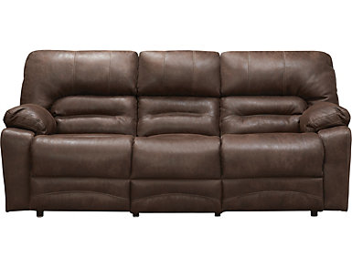Franklin Legacy Power Reclining Sofa, Brown, , large