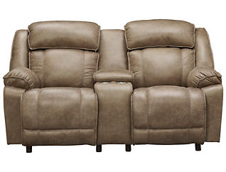 Franklin Marshall Reclining Loveseat, Beige, , large
