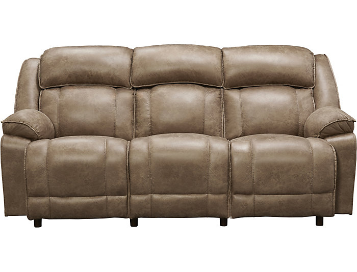 Franklin Marshall Reclining Sofa Beige Large