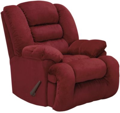 Arthur Rocker Recliner, Brown, Burgundy, swatch