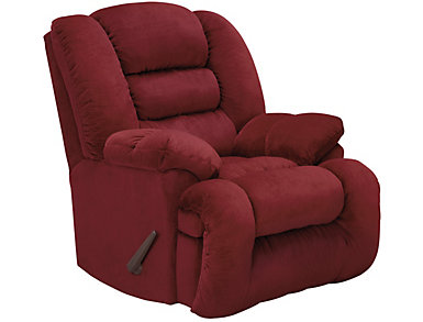 Arthur Rocker Recliner, Burgundy, Burgundy, large