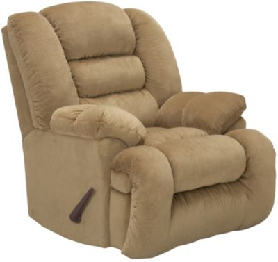 Arthur Rocker Recliner, Brown, Beige, swatch
