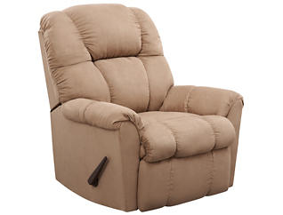 Aaron Rocker Recliner, Brown, , large