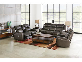 DP Pwr Recl Console Loveseat, , large