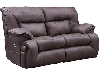 Hector Power Reclining Rocking Loveseat, , large
