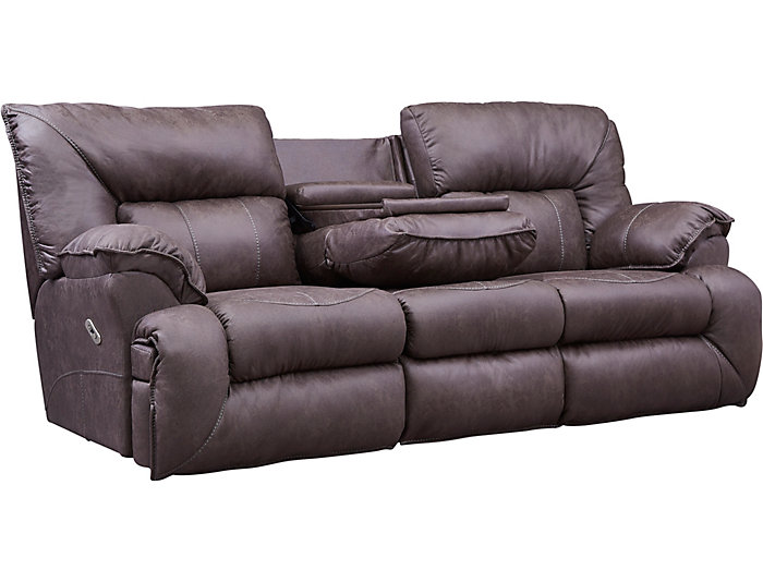 Hector Brown Power Reclining Sofa