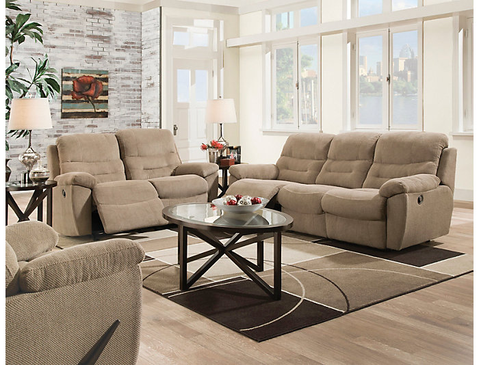 Bingo 2 Piece Reclining Sofa Loveseat Set Large