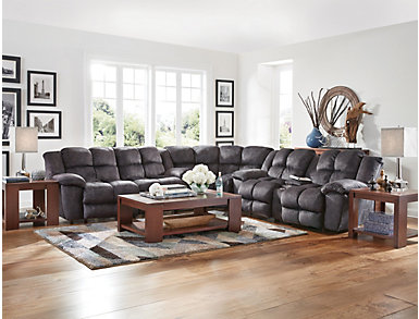 Cloud 3 Piece Reclining Sectional, , large
