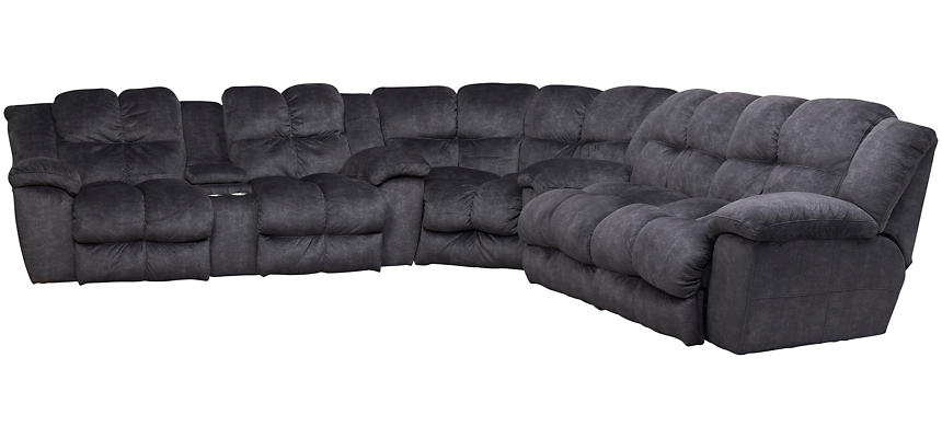 Cloud 3 Piece Reclining Sectional