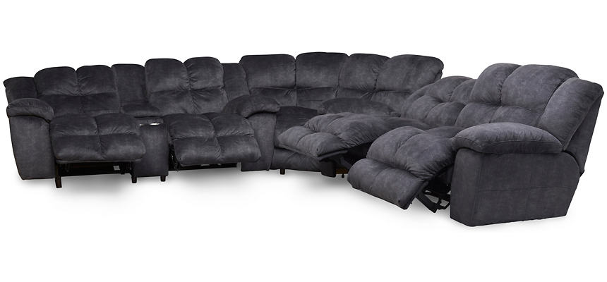 Cloud Grey 3 Piece Reclining Sectional