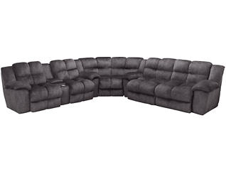 Cloud Sectional with Power Loveseat, Grey, , large