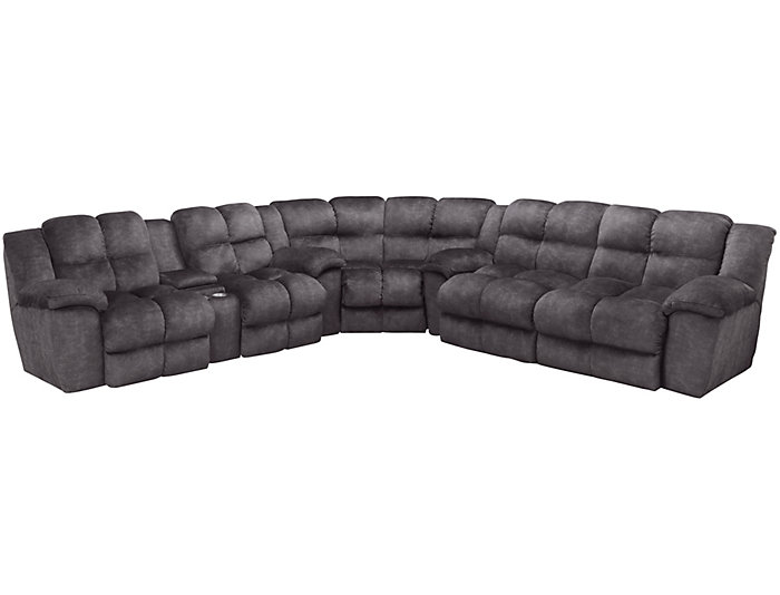 Cloud 3 Piece Power Reclining Sectional Art Van Home