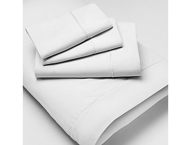 California King Microfiber Sheet Set, White, , large
