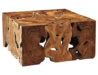 Salvo Square Teak Natural Coffee Table, , large