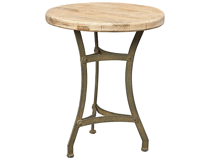 Recycled Wood Tripod Table, , large