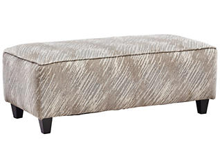 Empire Cocktail Ottoman, Taupe, , large