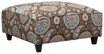 Anna Cocktail Ottoman, Brown, swatch