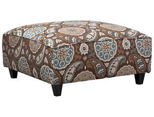 Anna Cocktail Ottoman, Brown, large