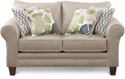 albany pewter loveseat art van furniture. Black Bedroom Furniture Sets. Home Design Ideas
