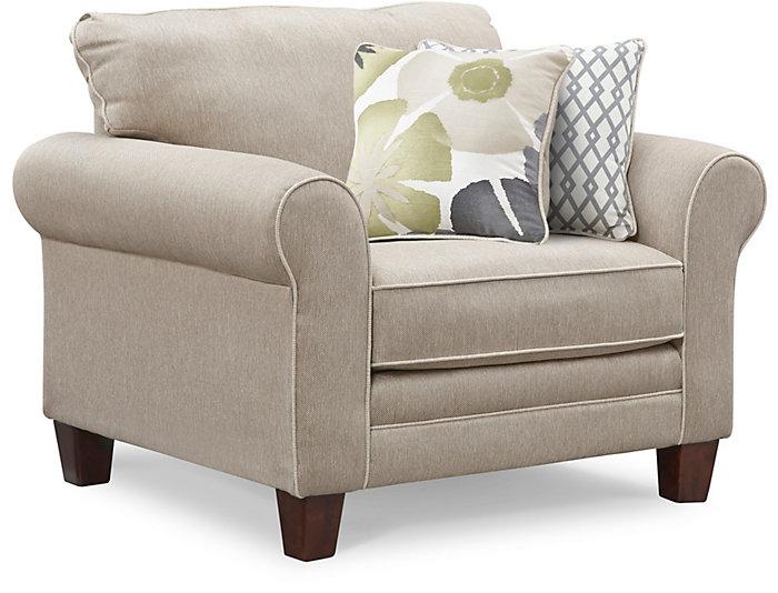 Evan Chair, Beige, Beige, large
