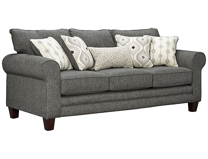 Capri Sofa, Charcoal, Charcoal, large