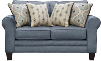 Capri Loveseat, Blue, swatch