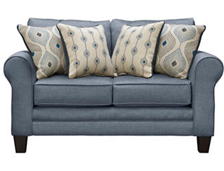 Capri Loveseat, Blue, large