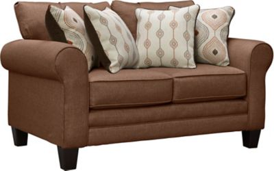 Capri Loveseat, Brown, swatch