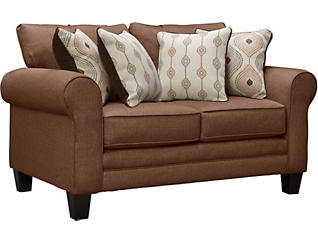 Capri Loveseat, Brown, large