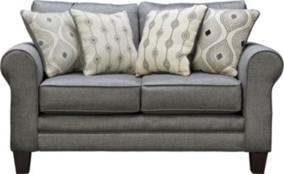 Capri Loveseat, Charcoal, swatch